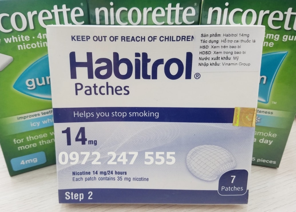 Miếng dán cai thuốc lá habitrol