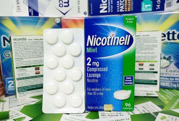 Kẹo ngậm cai thuốc lá Nicotinell 2mg