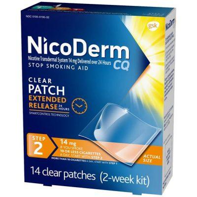 Miếng dán Nicoderm Step cai thuốc tại nhà dễ dàng