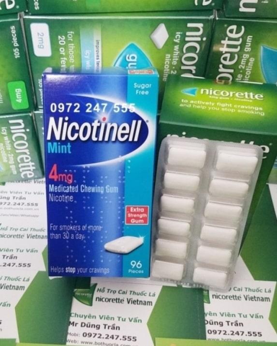 Kẹo Nicotinell 4mg