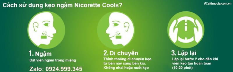 Cách dùng kẹo ngậm Nicorette Cools