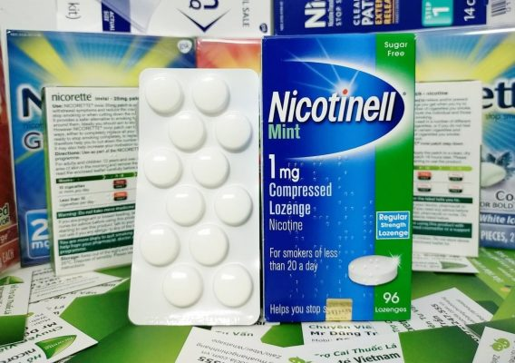 Kẹo ngậm Nicotine cai thuốc lá