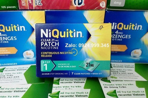 Miếng dán cai thuốc lá Niquitin 21mg Step 1