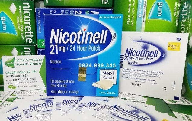 miếng dán nicotinell Step 1 hỗ trợ bỏ thuốc