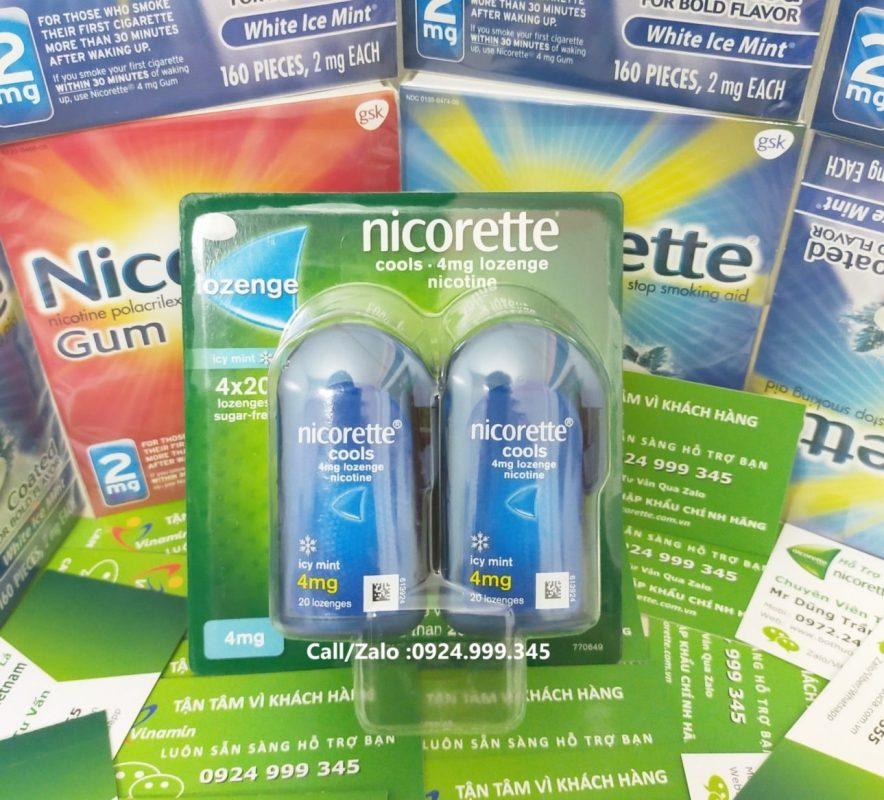 Kẹo Ngậm cai thuốc lá Nicorette