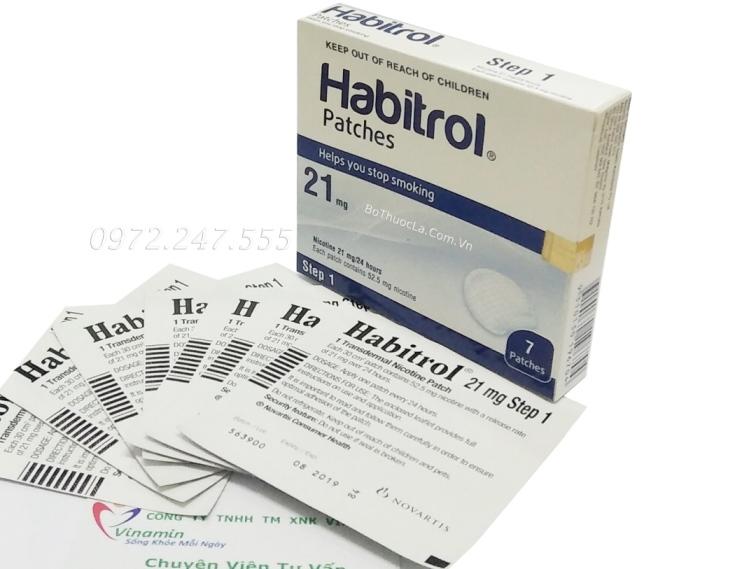 Miếng dán cai thuốc lá Habitrol step 1