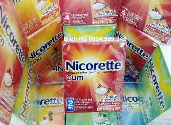 Kẹo Nicorette 2mg bạc hà quế