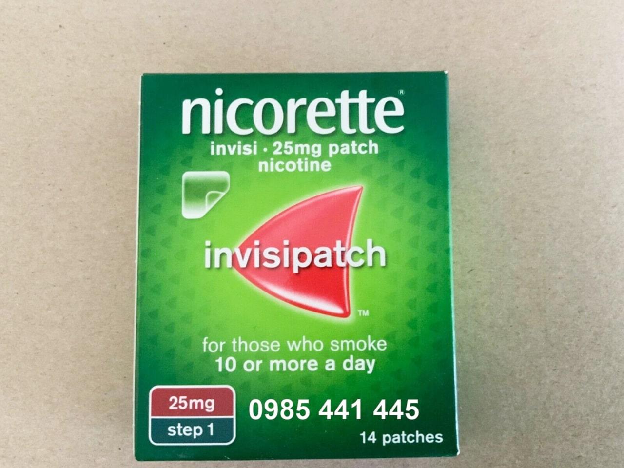 MIếng dán cai thuốc lá Nicorette