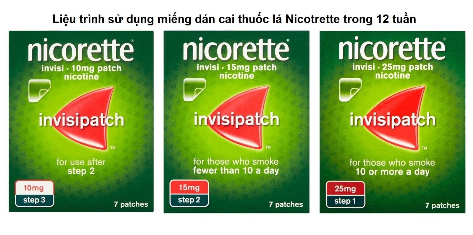 Liệu trình sử dụng miếng dán cai thuốc lá