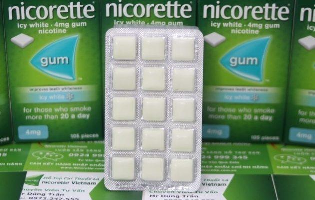 Kẹo cao su cai thuốc lá Nicorette