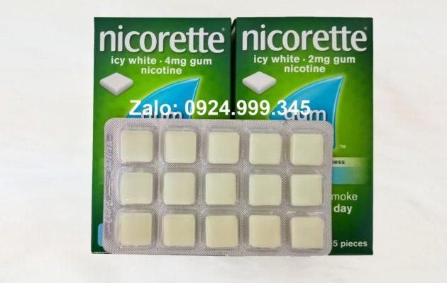Kẹo nhai nicotine cai thuốc lá tại nhà